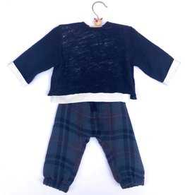 Pequeno Tocon Holiday plaid set