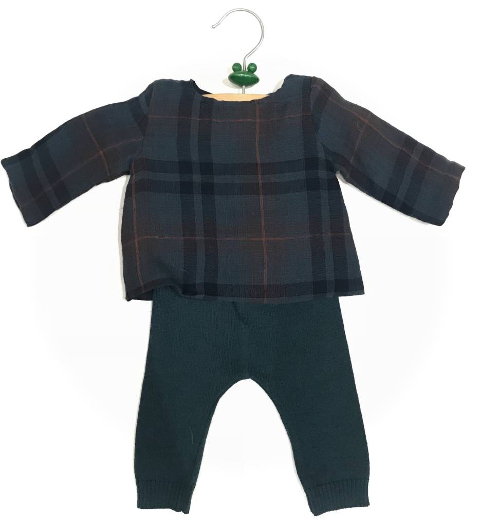 Pequeno Tocon Plaid green set