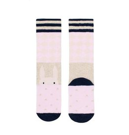 Billy Loves Audrey Pink Harlequin Socks
