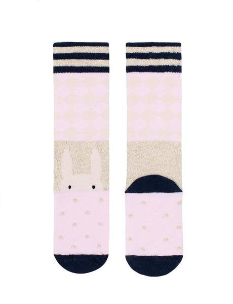Billy Loves Audrey Pink Harlequin Socks