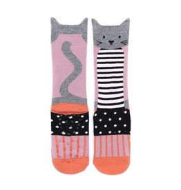 Billy Loves Audrey Cat Stripes Socks