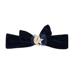 Billy Loves Audrey Navy Velvet Headband