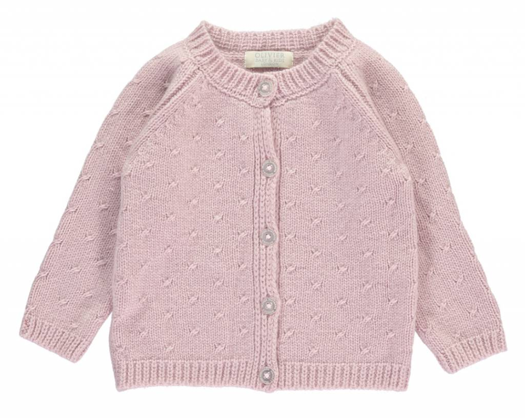 Oliver baby Cashmere Cardigan Dusty Rose