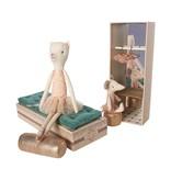 Maileg Dancing Cat Mouse Shoebox