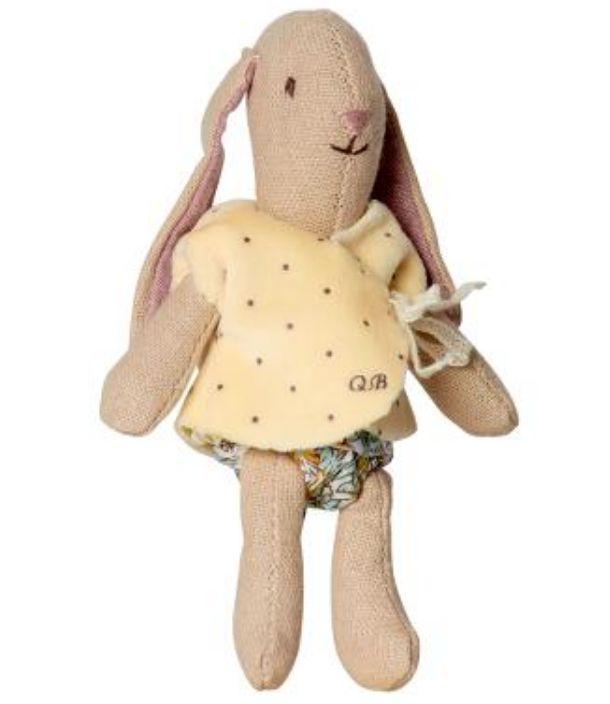 Maileg Micro bunny w/ yellow cardigan