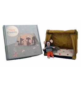 Maileg Hiker mouse with tent and light