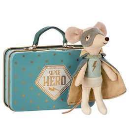 Maileg Super Hero Mouse Suitcase