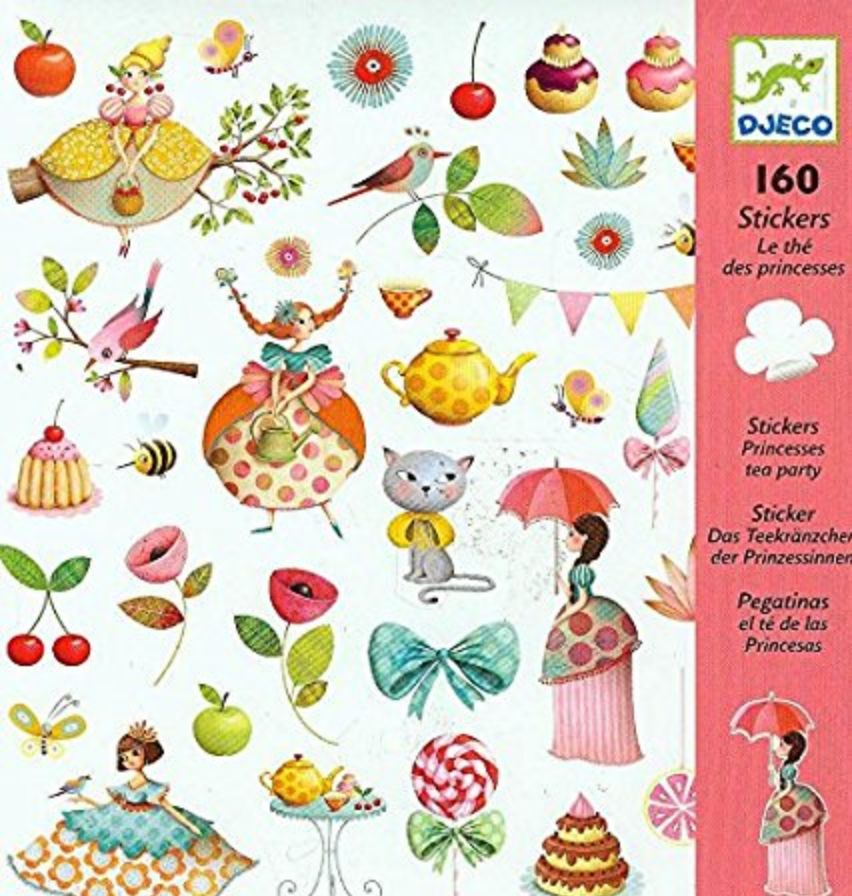 Djecco Djeco Stickers - Princess Tea Party