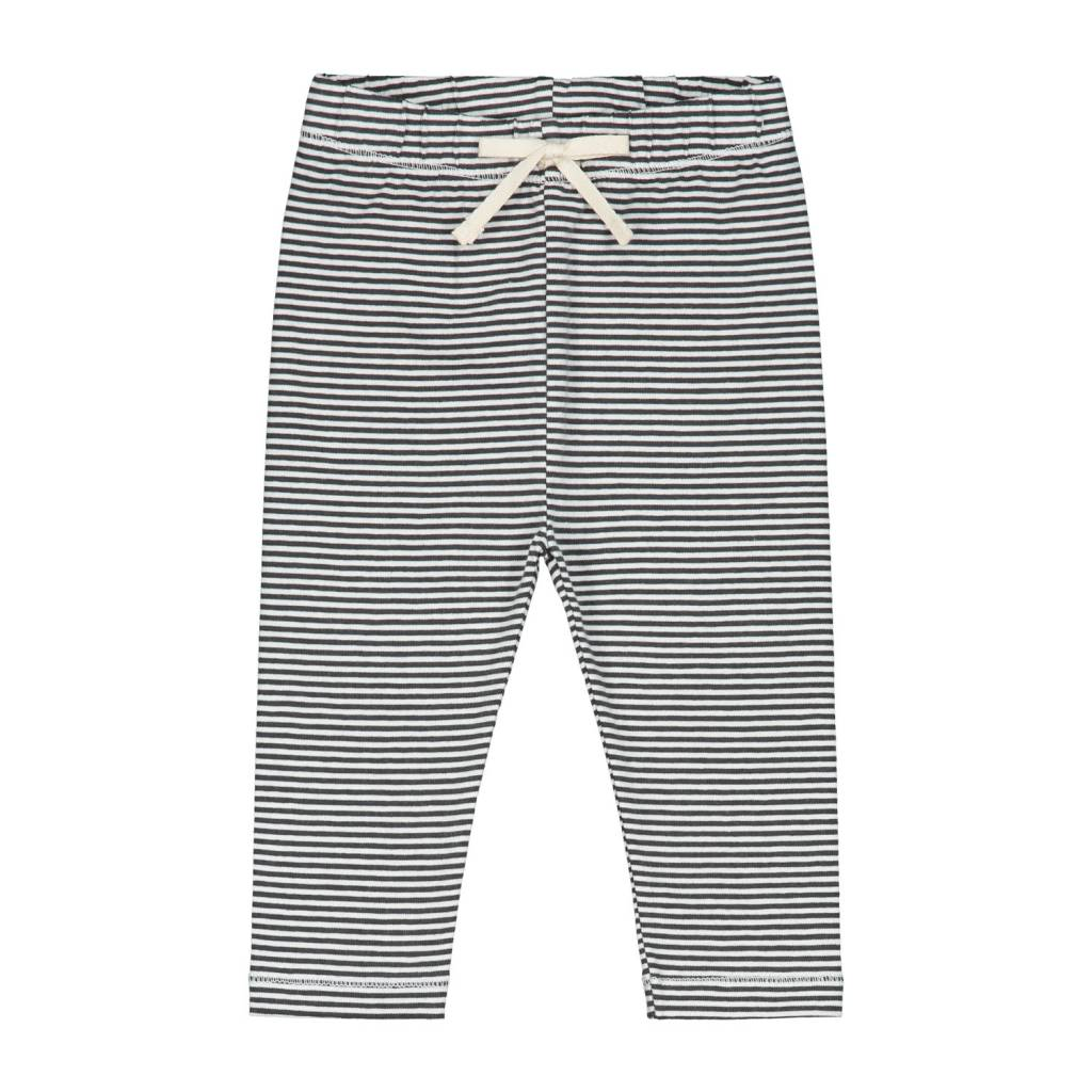 Gray Label Black/Cream Baby Leggings