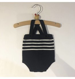 Pequeno Tocon Navy Striped Romper