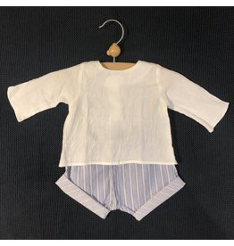 Pequeno Tocon Shirt/striped shorts set