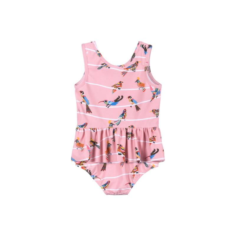 Paper Wings Birds on Wire swimsuit