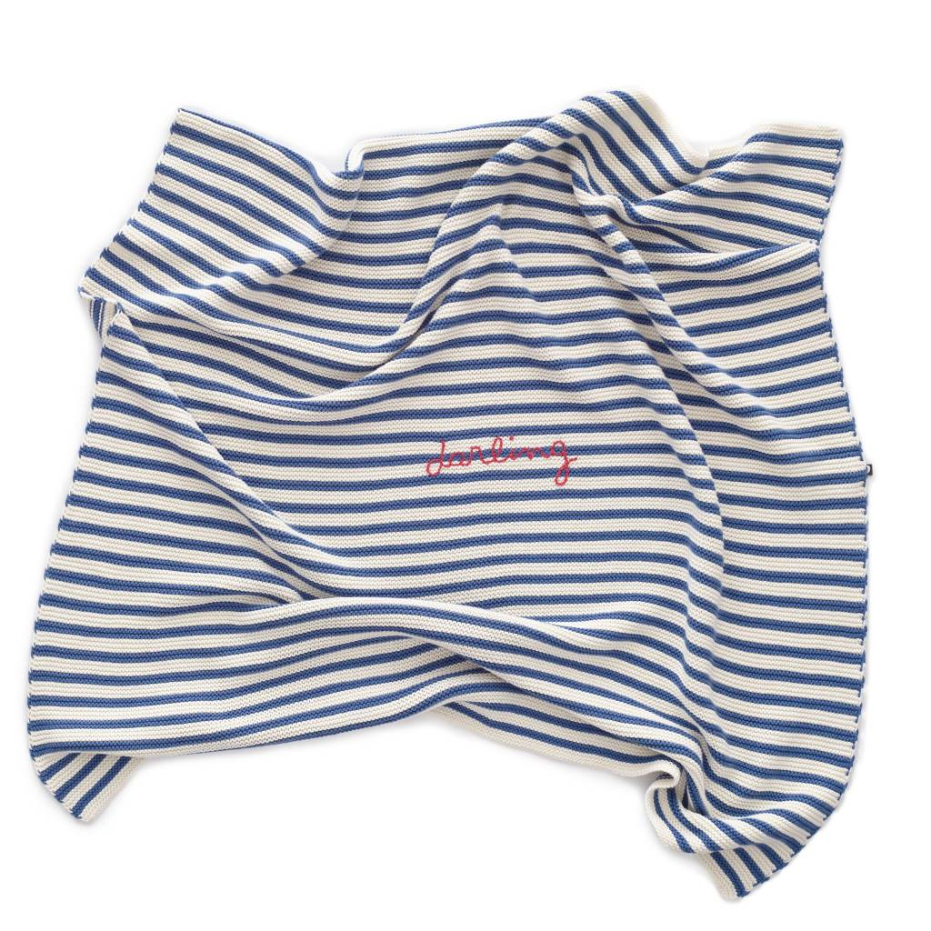 Oeuf Darling Striped Blanket