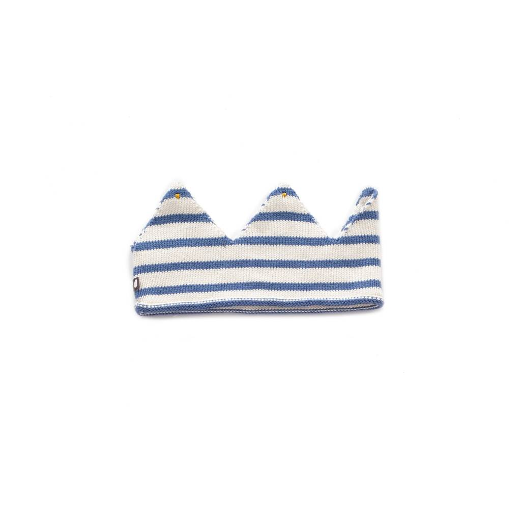 Oeuf White Blue Stripe Crown