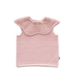 Oeuf Pink Scallop Top