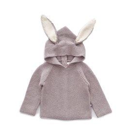 Oeuf Grey Bunny Hoodie