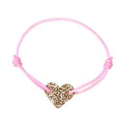 Luciole et petit pois Gold Heart Bracelet