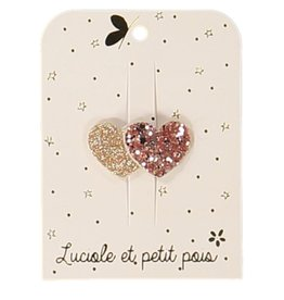 Luciole et petit pois Two hearts mini clip