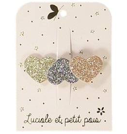 Luciole et petit pois Three Hearts Shiny Clip
