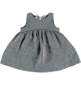 My Little Cozmo Grey Linen Dress