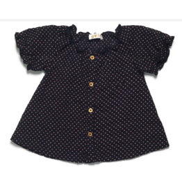 Gold Karjine Dots Dress