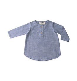 Go Gently Placket Top Chambray