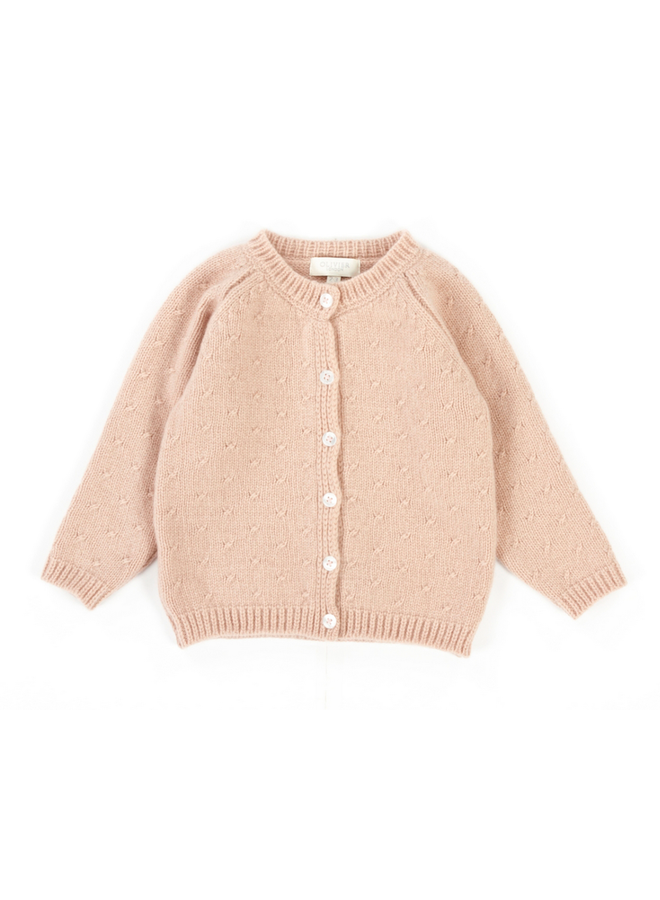 Cashmere Pink Cardigan