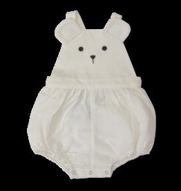 Olivier baby Cream Linen Bear Romper