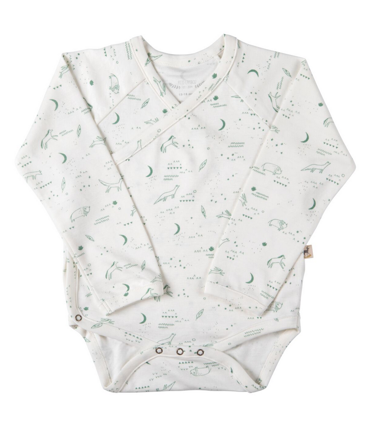 Red Caribou Nocturnal L/S Onesie