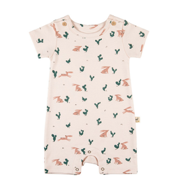Red Caribou Prickly Rabbit Romper