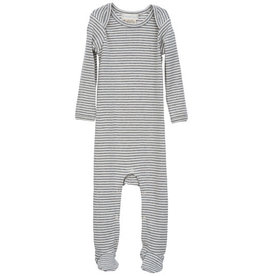 Serendipity Organics Grey Stripe Footie