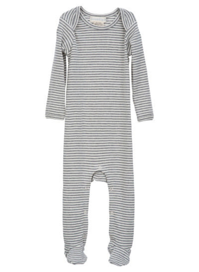 Grey Stripe Footie