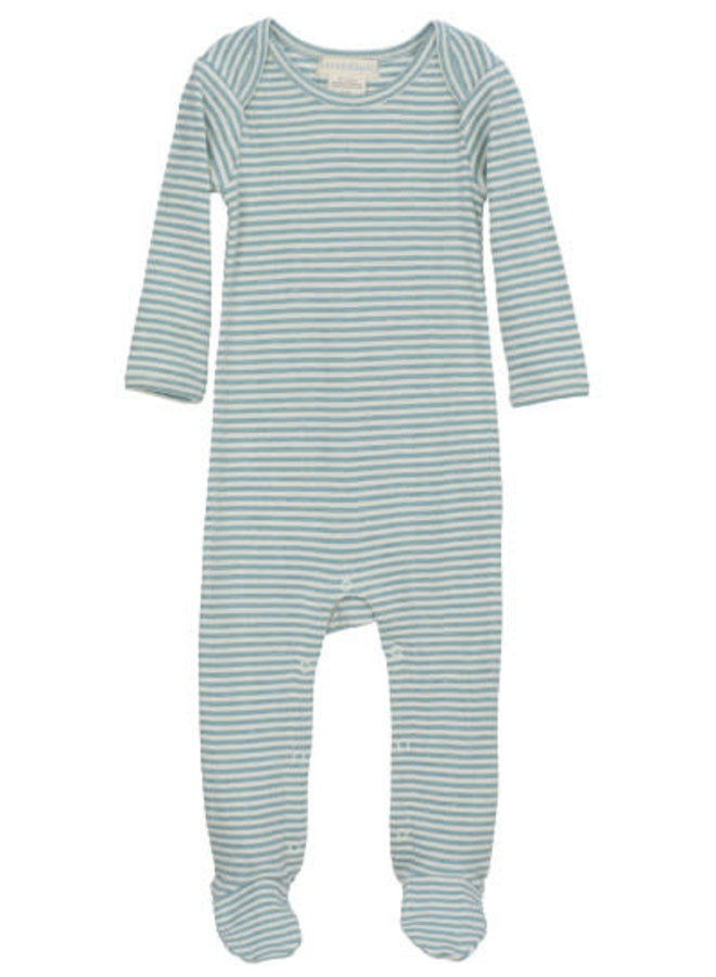 Blue Stripe Footie