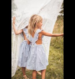 Marlot Elie Blue White Dress