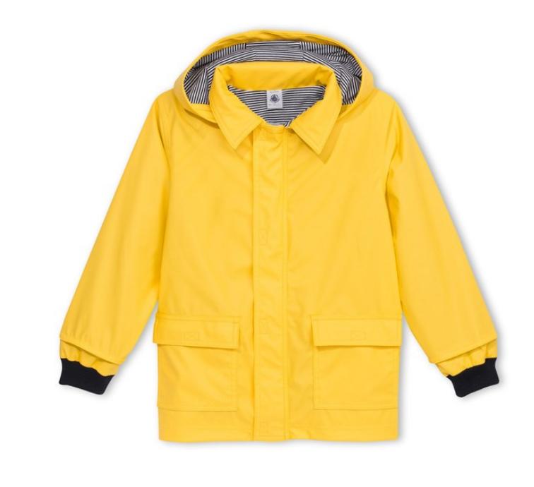 Petit Bateau Baby Yellow Raincoat
