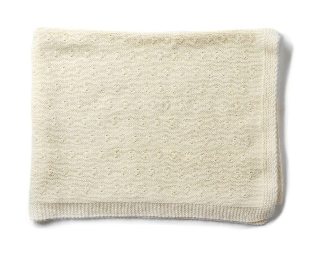 Olivier baby Vintage Cream Cashmere Blanket