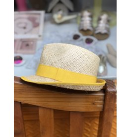 Nathalie Verlinden Bright Yellow Straw Hat