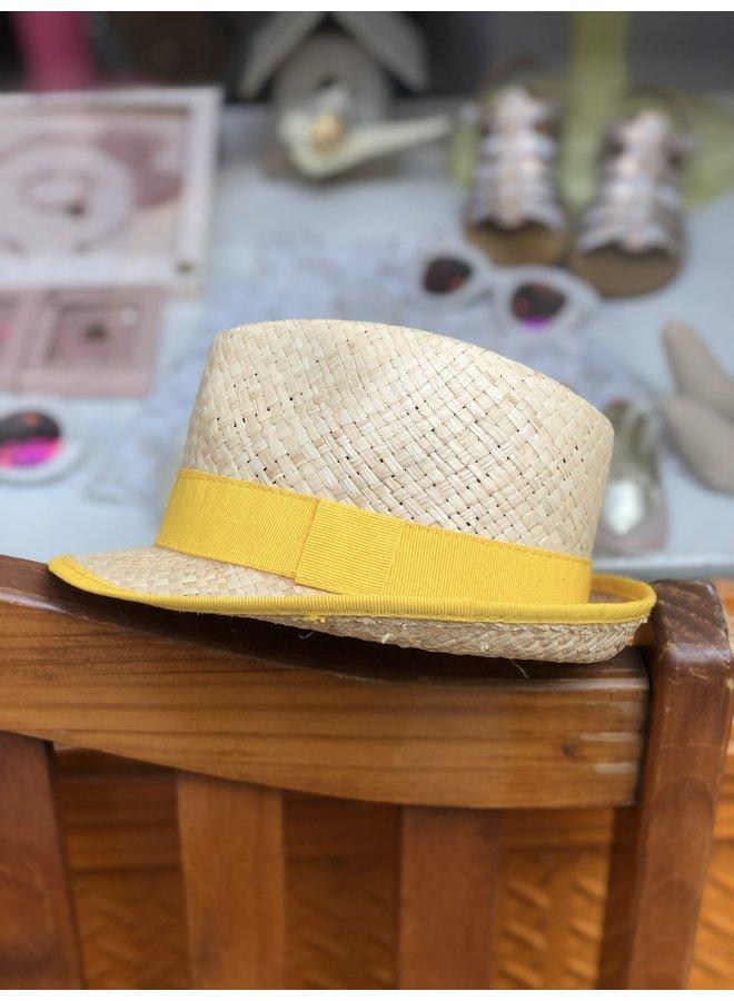 Bright Yellow Straw Hat