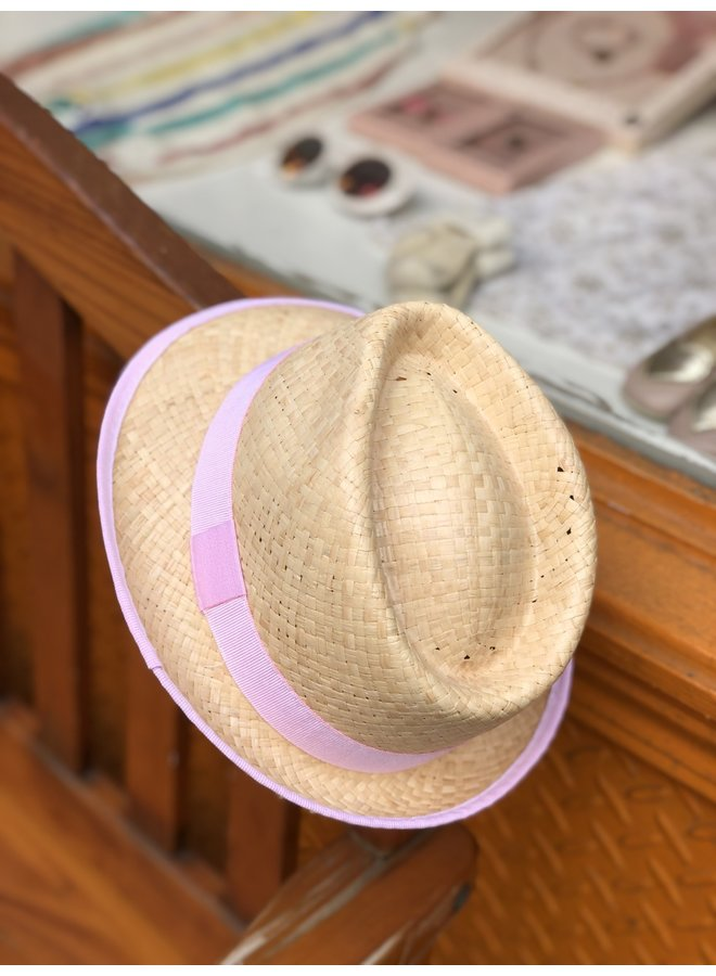Cool Pink Straw Hat