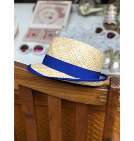 Nathalie Verlinden Royal Blue Straw Hat