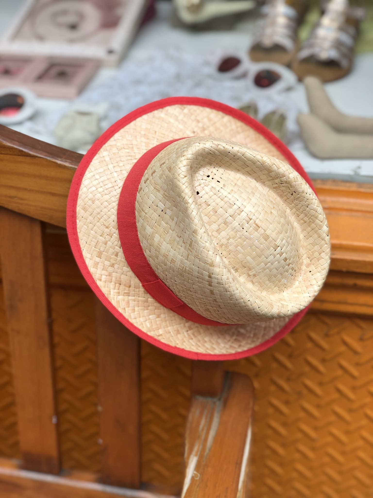 Nathalie Verlinden Red Straw Hat