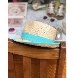 Nathalie Verlinden Teal Straw Hat