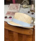 Nathalie Verlinden Grey Blue Straw Hat