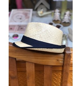 Nathalie Verlinden Dark Navy Straw Hat