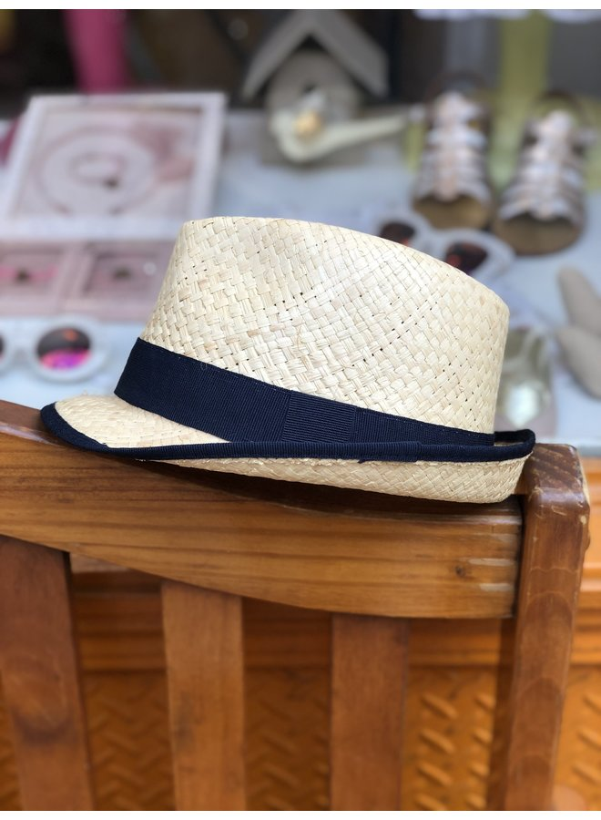 Dark Navy Straw Hat
