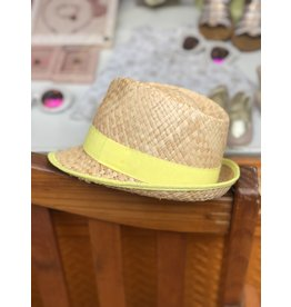 Nathalie Verlinden Cool Yellow Straw Hat