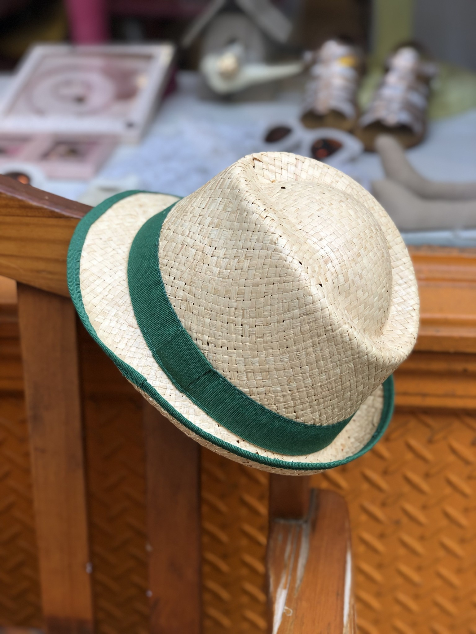 Nathalie Verlinden Green Straw Hat