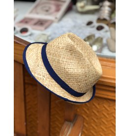 Nathalie Verlinden Navy Straw Hat