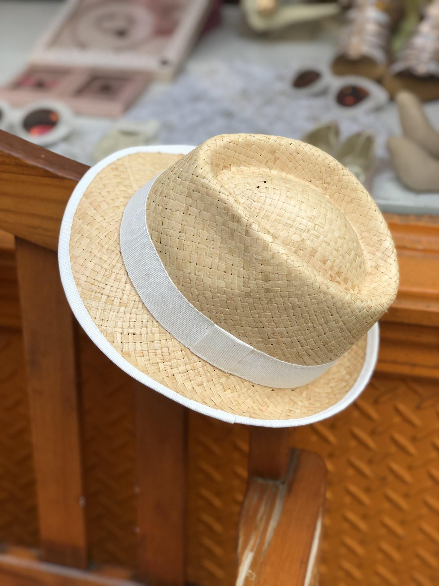 Nathalie Verlinden White Straw Hat