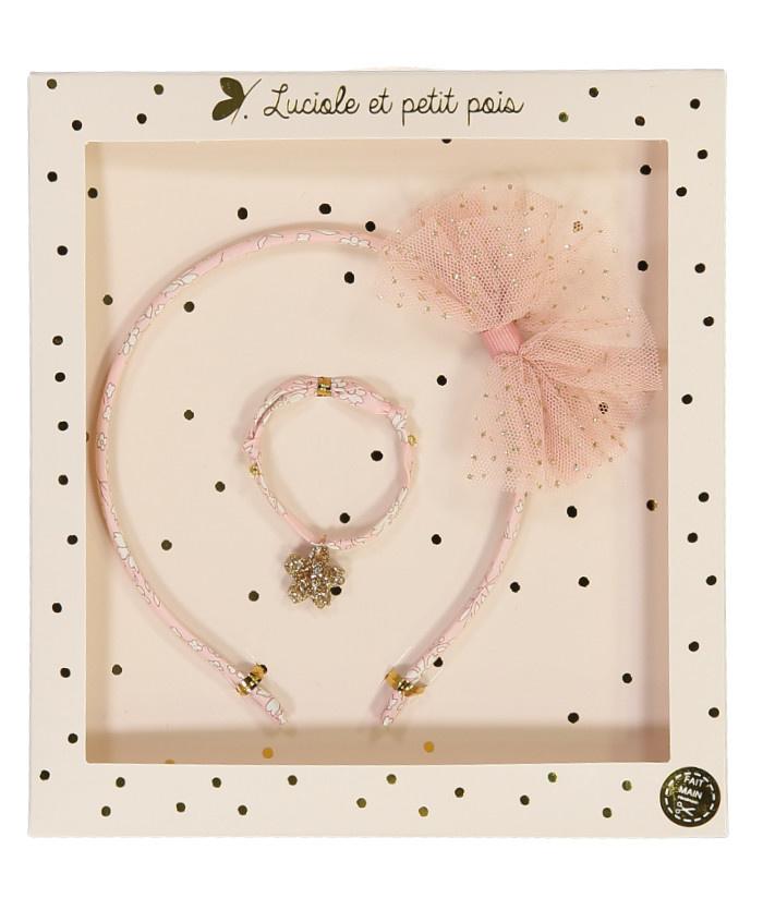 Luciole et petit pois Hairband Bracelet Set